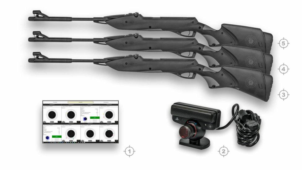 Лазерный тир электронный ⋆ТИР ЭЛЕКТРОН⋆ комплект 4